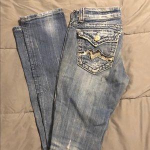 lightly worn miss me jeans